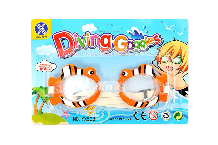 Bílo-oranžové unisex plavecké brýle Mac Toys