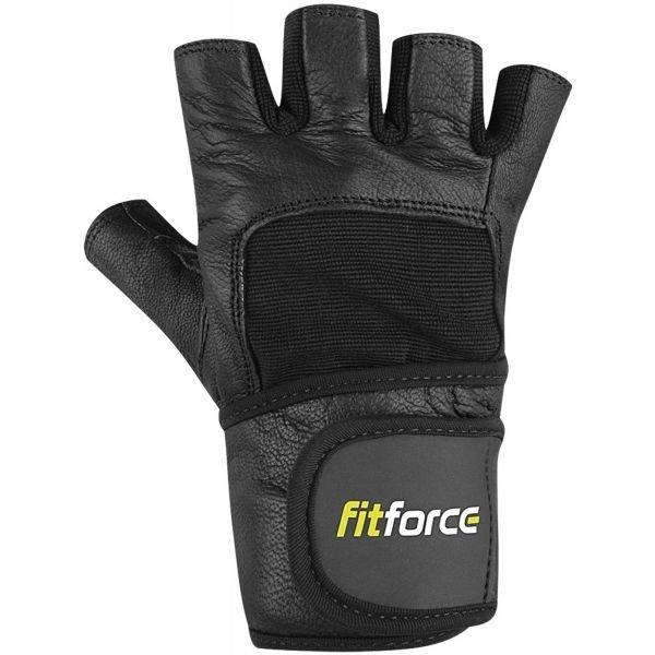 Černé fitness rukavice Fitforce