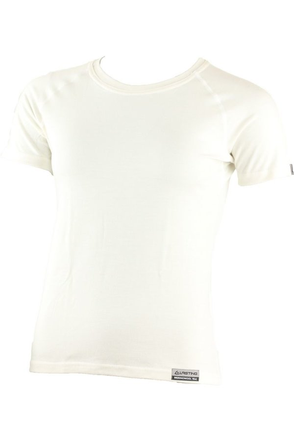 Béžové dámské tričko s krátkým rukávem Lasting - velikost S