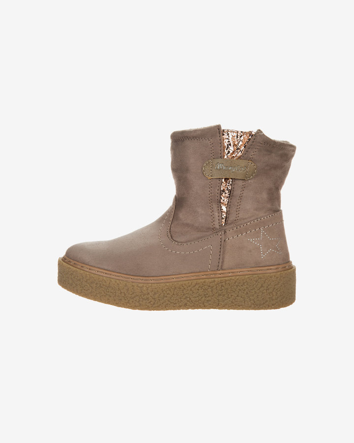 Hnědé dětské dívčí kotníkové boty Wrangler - velikost 32 EU