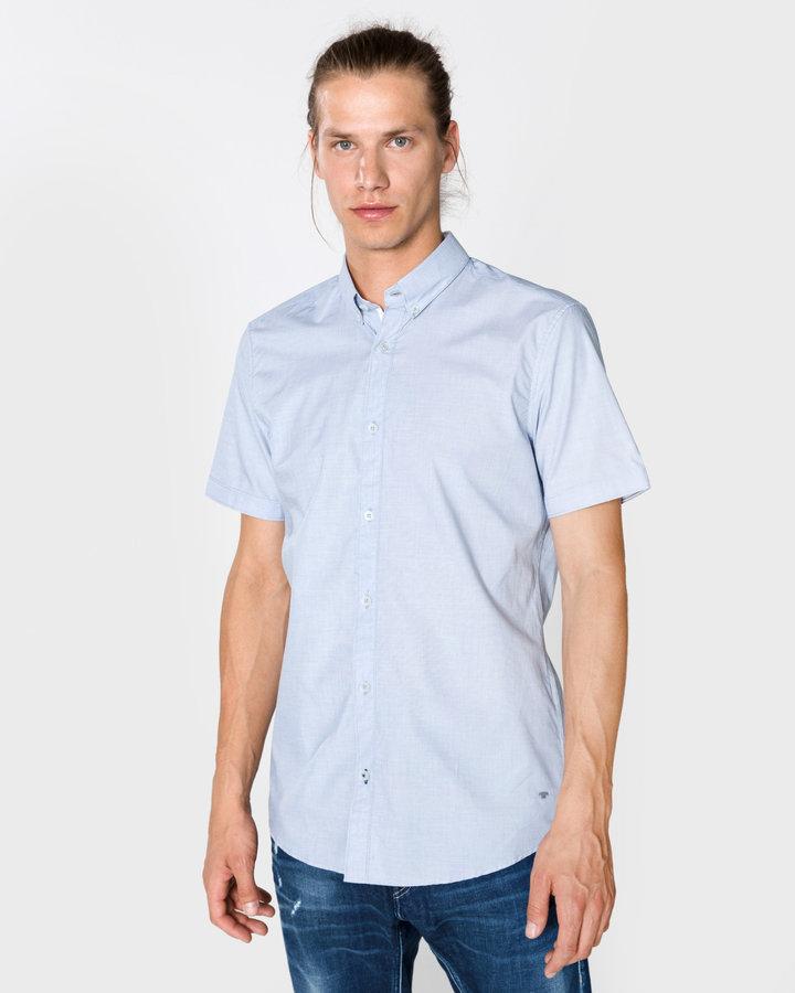 Modrá pánská košile s krátkým rukávem Tom Tailor - velikost S