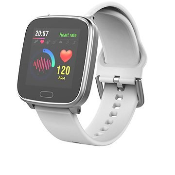 Bílé chytré pánské hodinky SlimFit+, Carneo