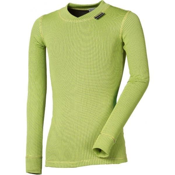 Zelené dětské funkční tričko s dlouhým rukávem Progress