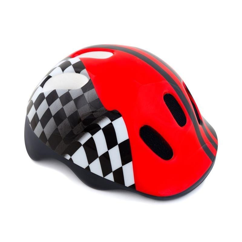 Černo-červená dětská cyklistická helma Spokey - velikost 49-56 cm