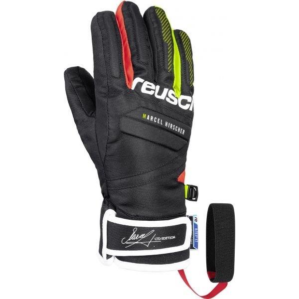 Černé chlapecké lyžařské rukavice Reusch