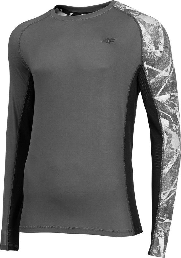 Šedé pánské funkční tričko s dlouhým rukávem 4F