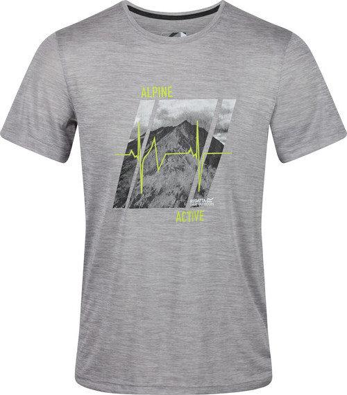 Šedé pánské funkční tričko s krátkým rukávem Regatta