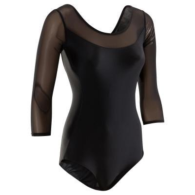 Černý dámský baletní trikot Domyos