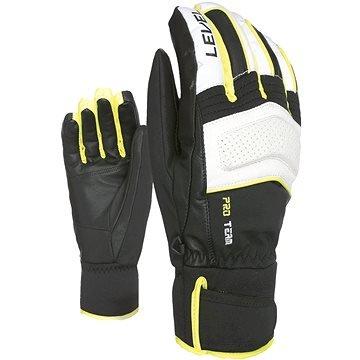 Bílo-černé pánské lyžařské rukavice Level