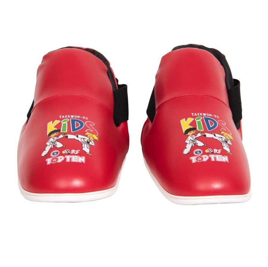 Červené chrániče na nohy Top Ten - velikost XS