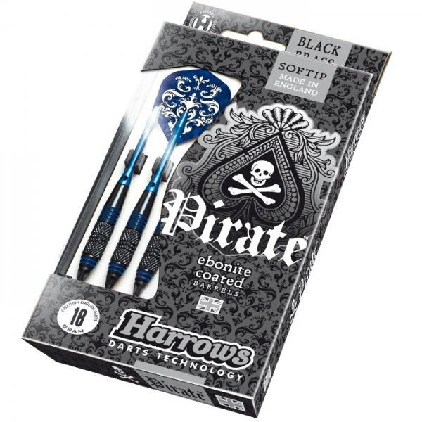 Šipky - Šipky Harrows Pirate Soft 16g K Blue 3ks