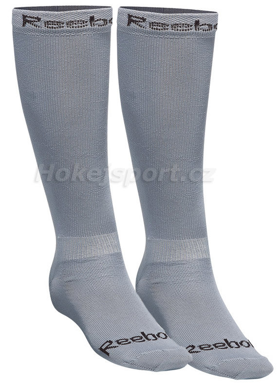 Šedé hokejové ponožky 12K Sport-Sani Skate Sock, Reebok - velikost XL