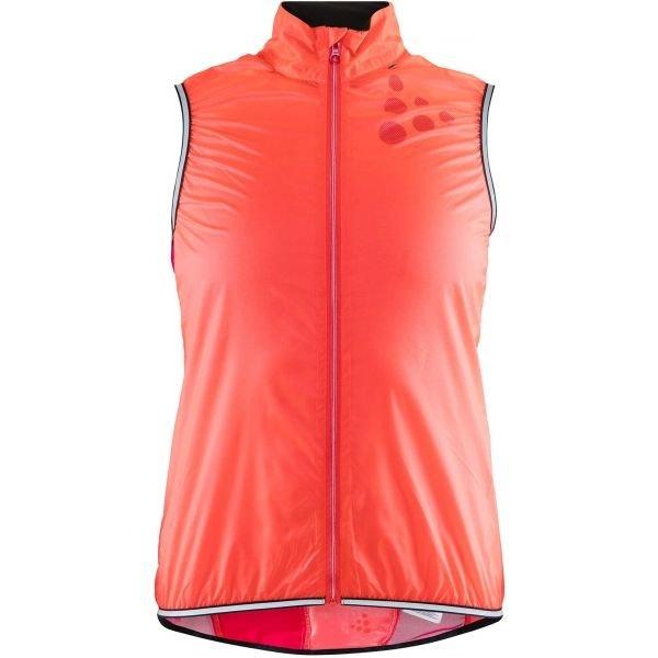 Oranžová dámská vesta Craft
