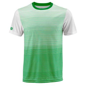 Bílo-zelené pánské tenisové tričko Wilson