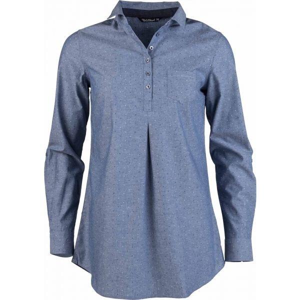 Modrá dámská košile s dlouhým rukávem Willard - velikost 36