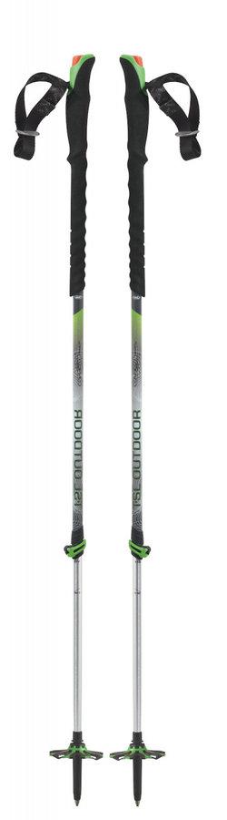 Černo-zelená trekingová hůl Connect Alu 2 Cross Wt, TSL - délka 140 cm