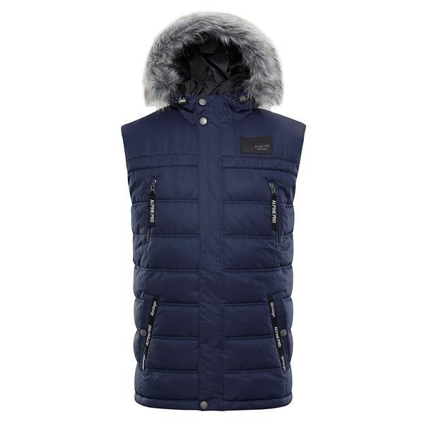 Modrá zimní pánská vesta Alpine Pro - velikost M