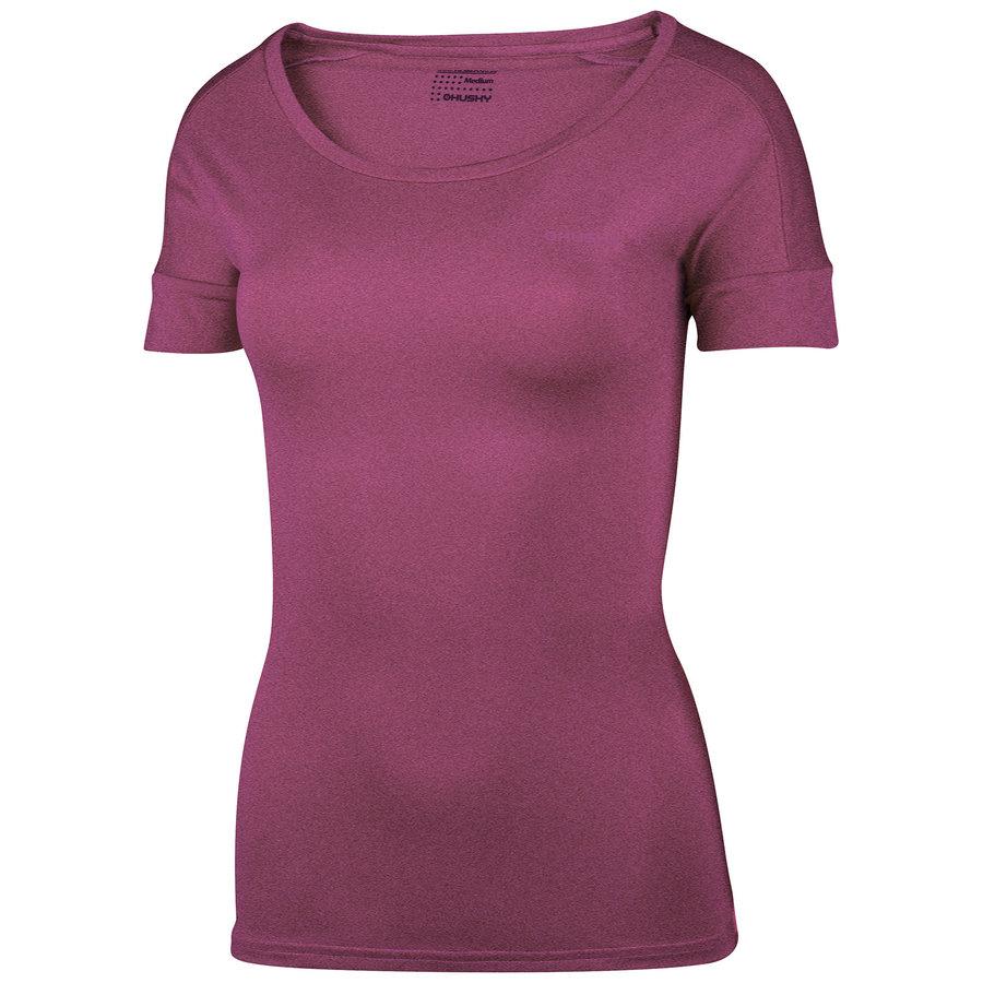 Fialové dámské tričko s krátkým rukávem Husky