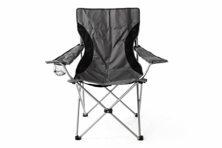 Kempingová židle - Divero Kempingová rybářská skládací židle šedá