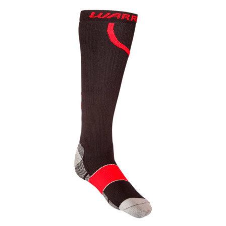 Černo-červené hokejové ponožky Compression Pro Sock, Warrior - velikost 36-39 EU