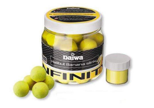"""Plovoucí boilies Daiwa """"halibut"""" a """"banán"""" - průměr 16 mm"""