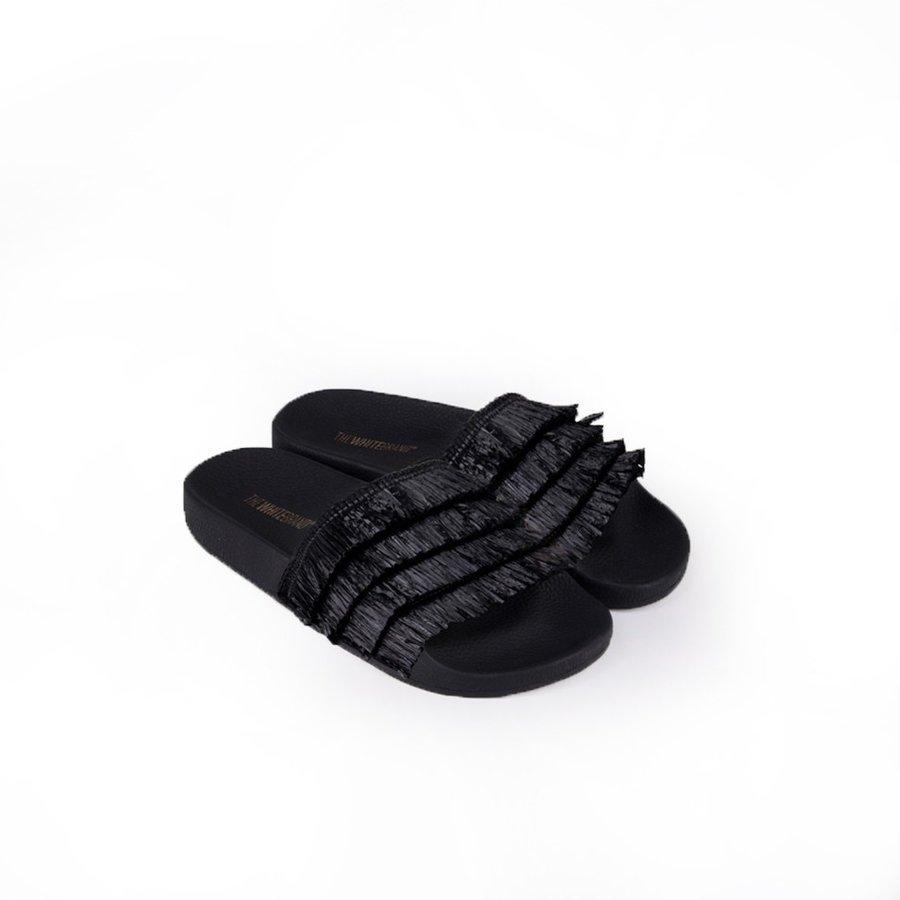 Černé dámské pantofle The White Brand - velikost 40 EU