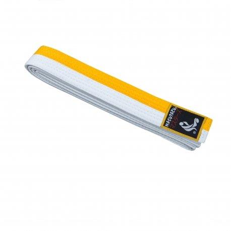 Bílo-žlutý judo pásek MASUTAZU - délka 280 cm
