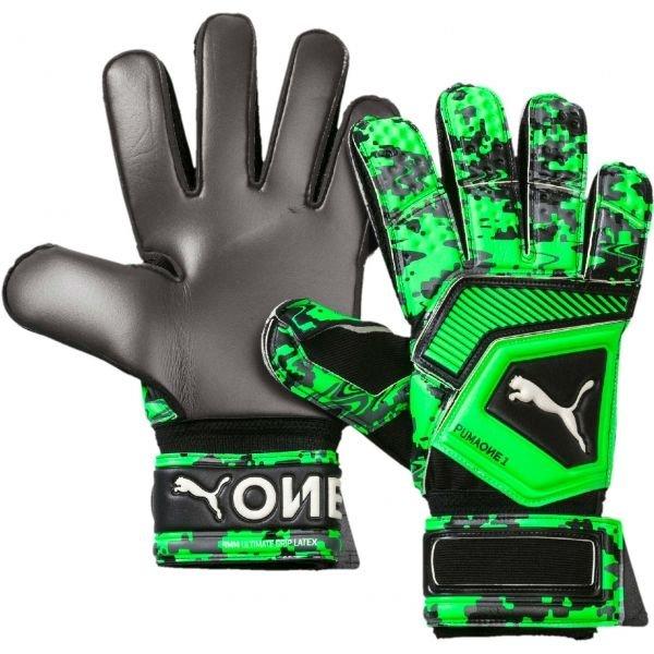Zelené pánské brankářské fotbalové rukavice Puma
