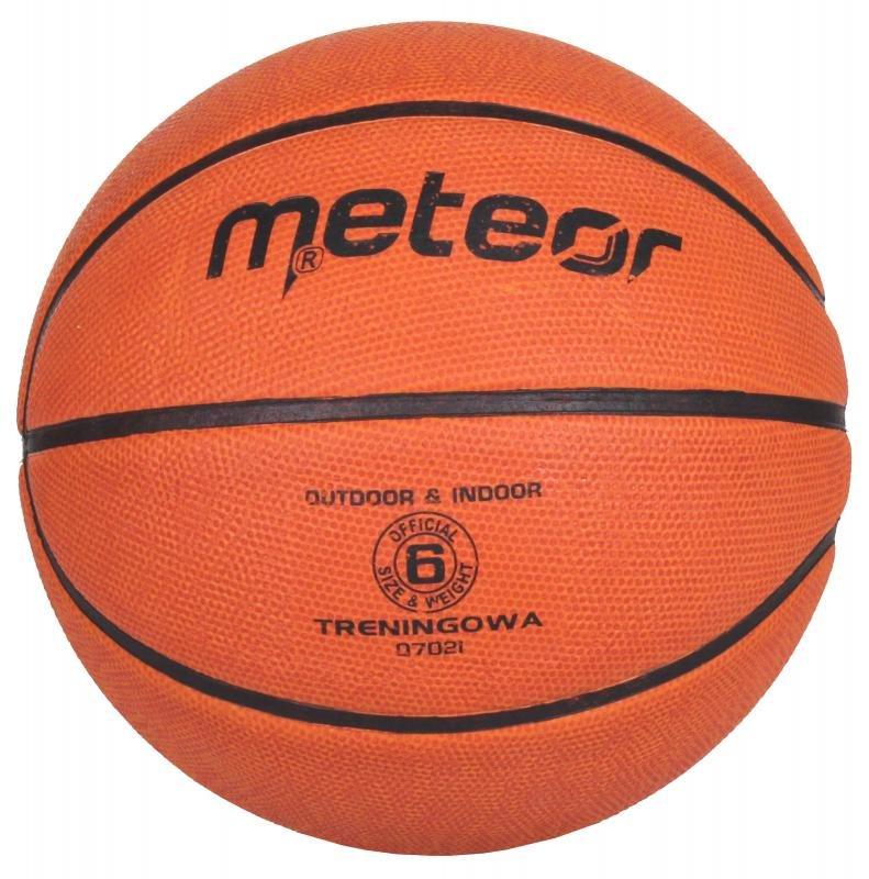 Hnědý basketbalový míč Meteor - velikost 6