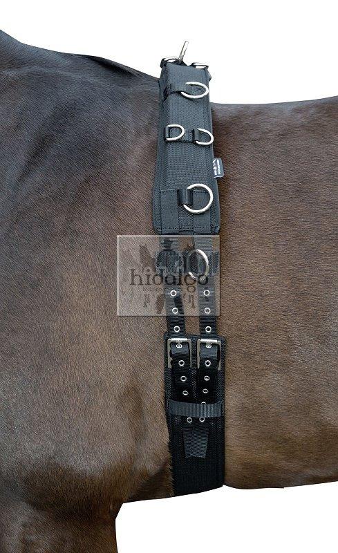 Černý lonžovací obřišník HKM - full