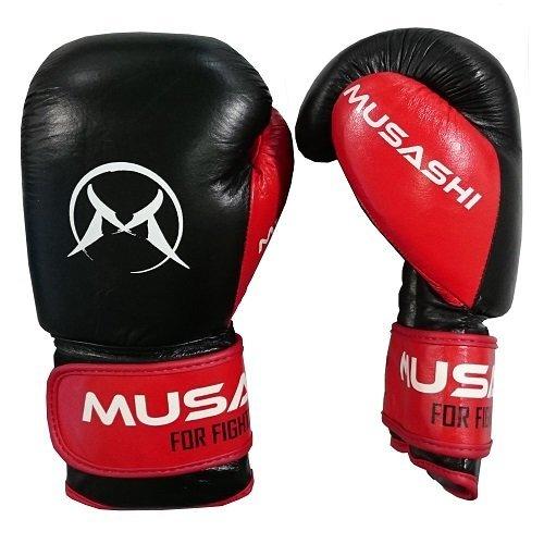 Černo-červené boxerské rukavice Musashi - velikost 16 oz