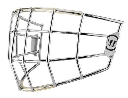 Stříbrná brankářská hokejová mřížka - youth Warrior