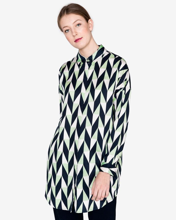 Různobarevná dámská košile s dlouhým rukávem Selected