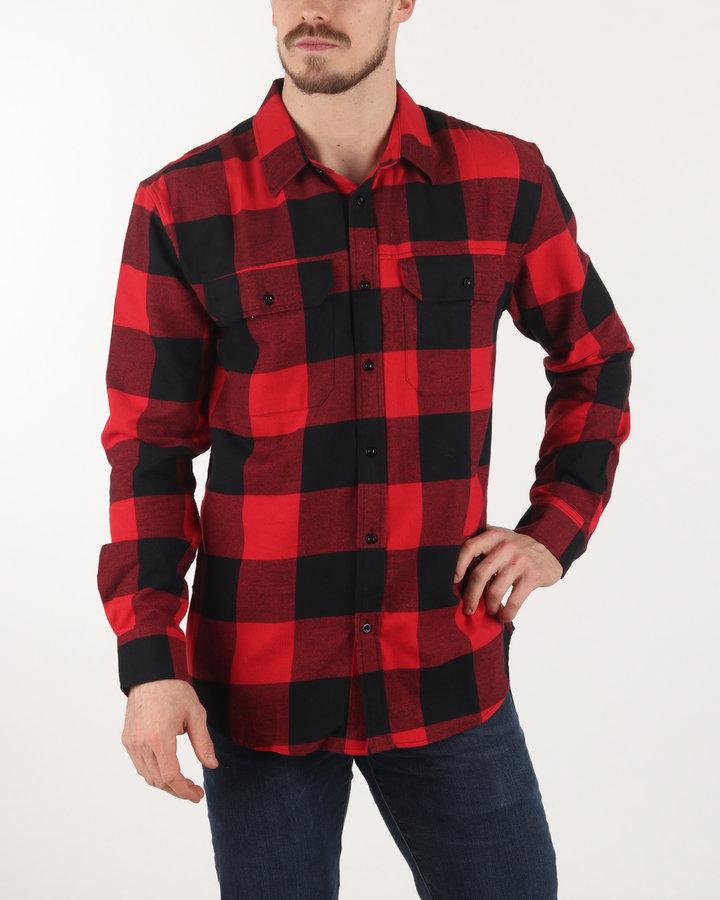 Černo-červená pánská košile s dlouhým rukávem Rifle