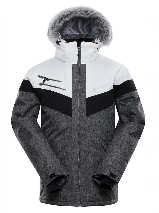 Bílo-šedá pánská bunda Alpine Pro