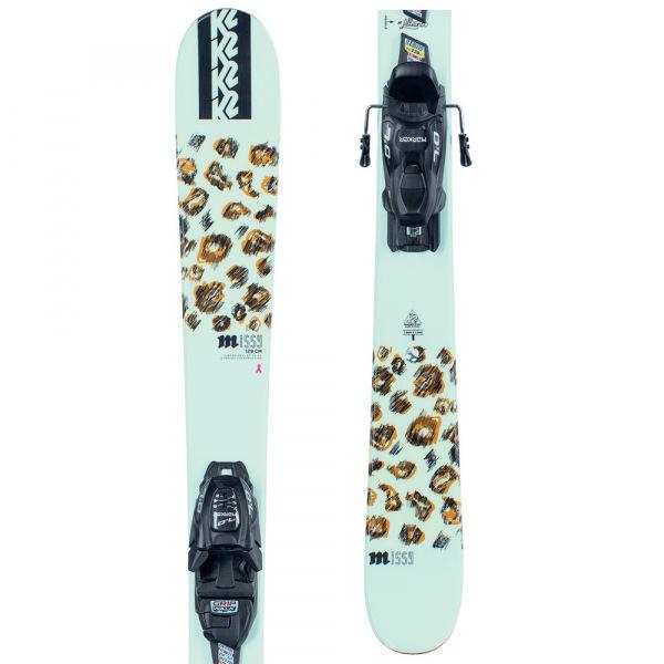 Bílé dětské skialpové lyže s vázáním K2