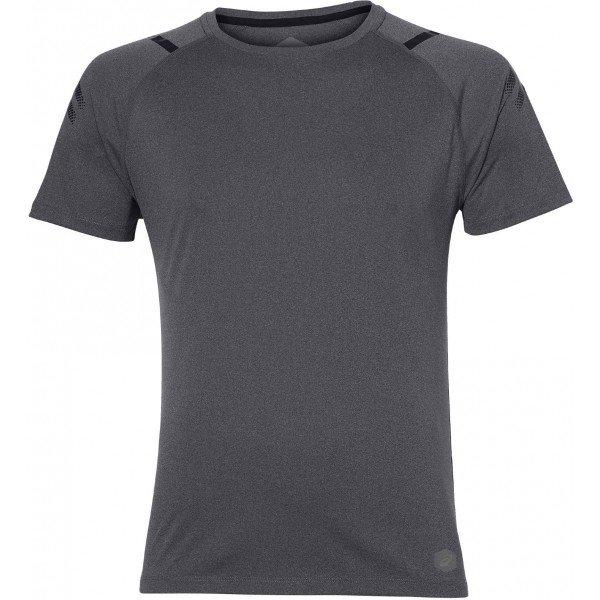 Šedé pánské běžecké tričko Asics