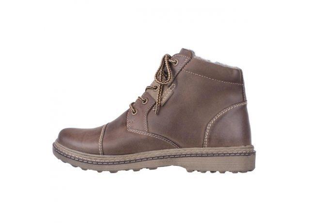 Hnědé pánské zimní boty EFFE TRE