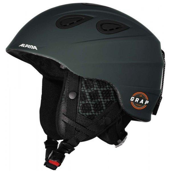 Zelená lyžařská helma Alpina Sports