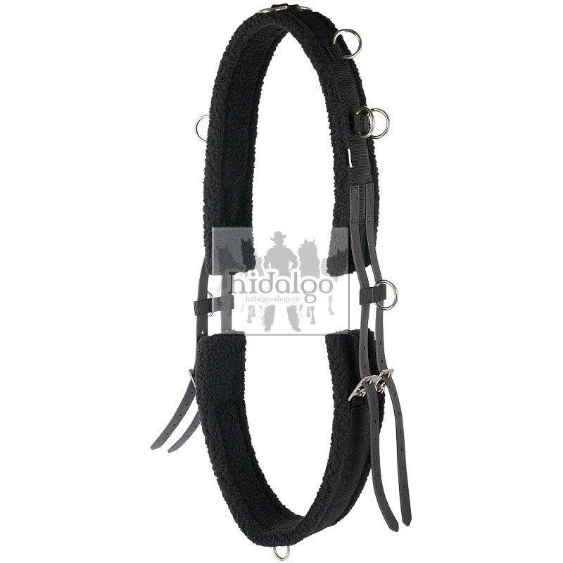 Černý lonžovací obřišník Harry's Horse - full