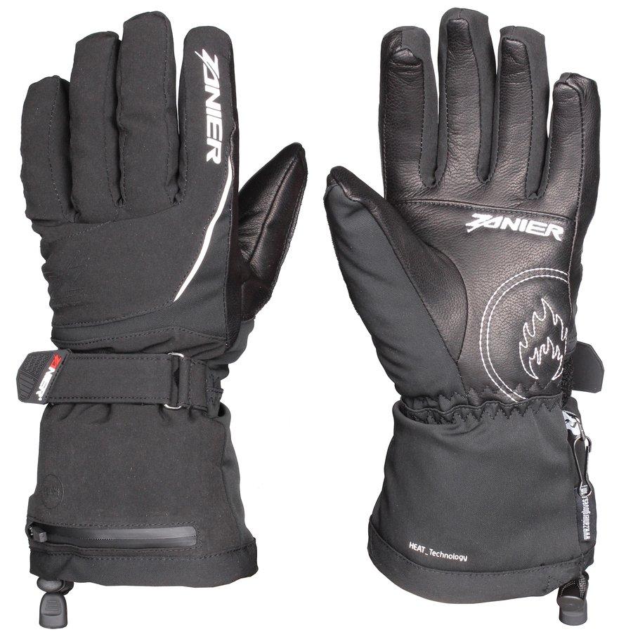 Černé dámské lyžařské rukavice s vyhříváním Zanier - velikost S