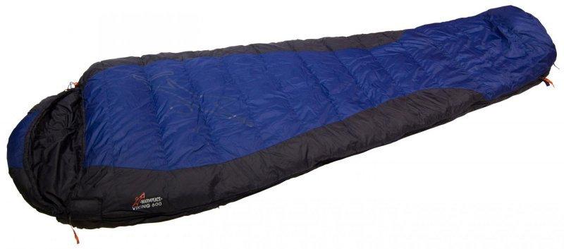 Modrý spací pytel Warmpeace - délka 205 cm