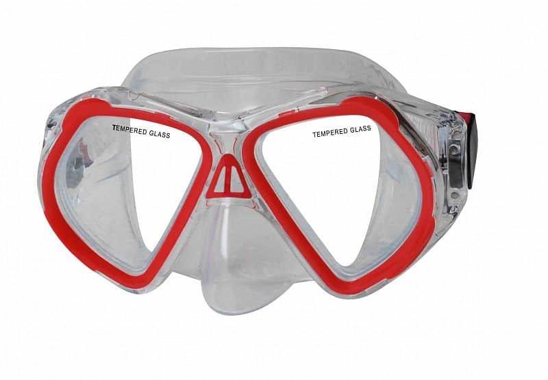 Potápěčská maska - Potápěčská maska CALTER JUNIOR 4250P, červená