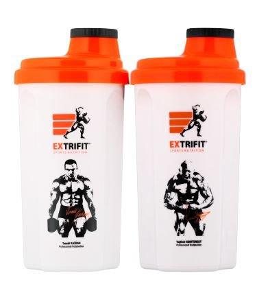 Červený shaker Extrifit - objem 700 ml