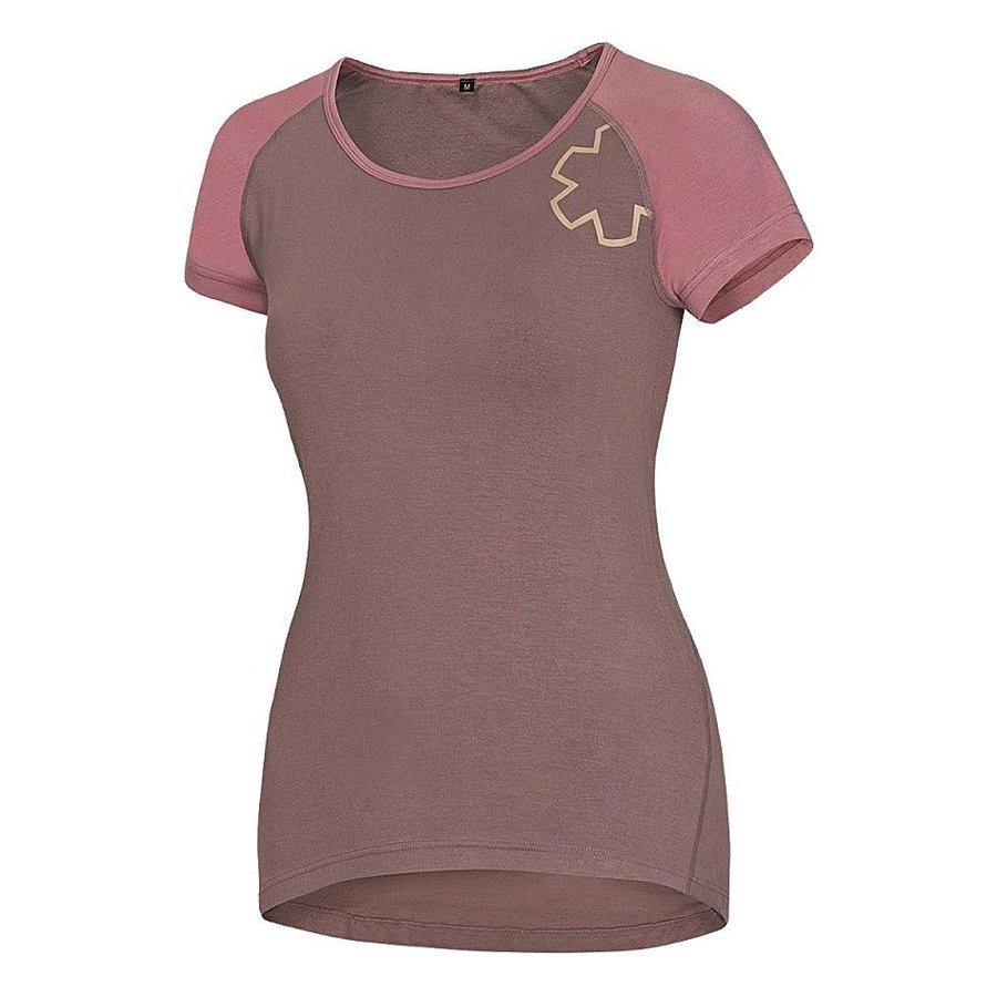 Červené dámské turistické tričko s krátkým rukávem Ocún