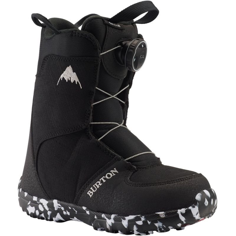 Černé dětské boty na snowboard Burton - velikost 34 EU