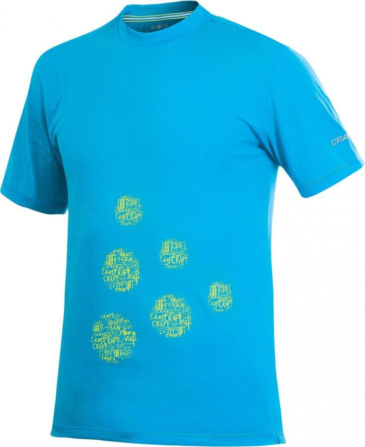 Modré pánské funkční tričko s krátkým rukávem Craft - velikost XL