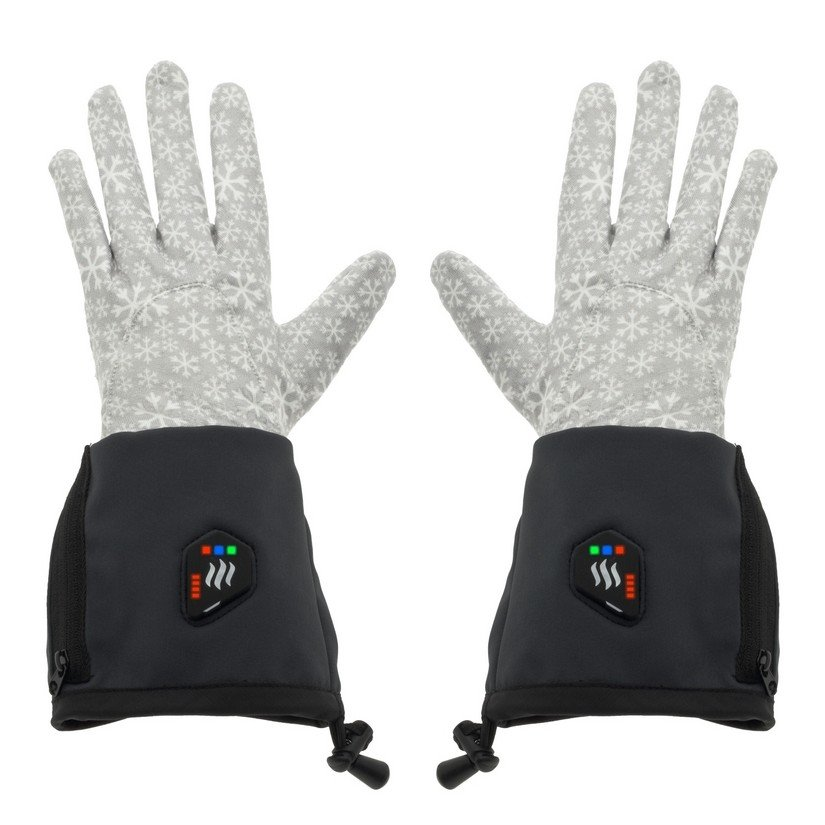 Černo-šedé zimní rukavice s vyhříváním Glovii