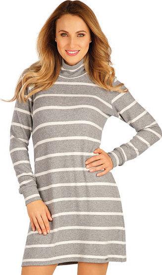 Bílo-šedé dámské šaty Litex - velikost L