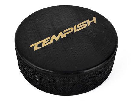 Černý hokejový puk Tempish